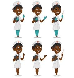 Set of nurses vector image