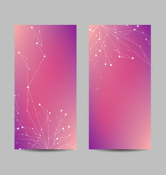 Set vertical banners with geometric pattern vector