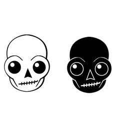 Skulls robot alien halloween vector
