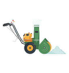Snowblower icon in flat style isolated on white vector