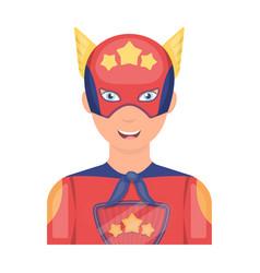 Superman single icon in cartoon style superman vector