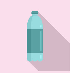 Survival water bottle icon flat style vector