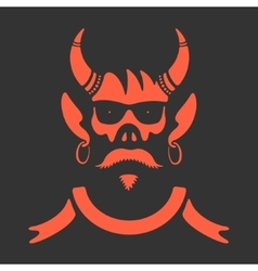 Symbol Skull With Horns vector image