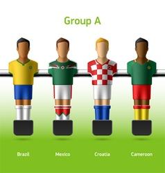 Table football foosball players vector