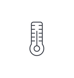 thermometer weather or medicine equipment thin vector image