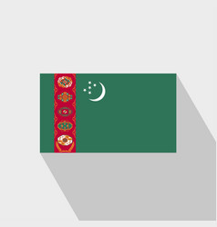 Turkmenistan flag long shadow design vector