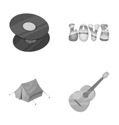 Vinyl discs guitar tenthippy set collection vector