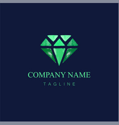 Watercolor diamond logo design5 vector