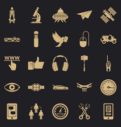 Web icons set simple style vector