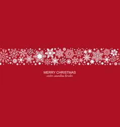 white and red seamless snowflake border christmas vector image