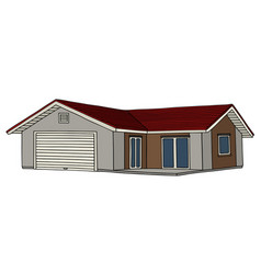 a low house vector image vector image