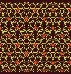 abstract art deco star pattern vector image