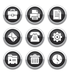 black office buttons vector image