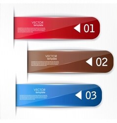 Set of bookmarks stickers labels tags template for vector image vector image