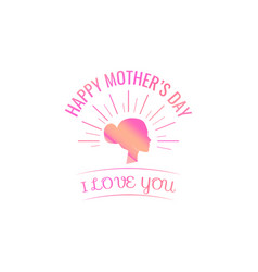 silhouette head mom mothers day card i vector image