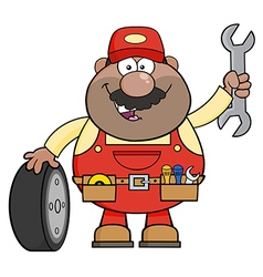 Smiling Mechanic Cartoon vector image vector image