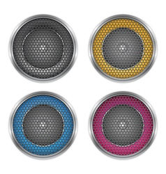 Sound speakers vector image