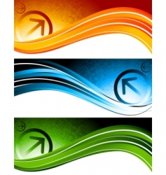 technology banners vector image
