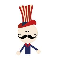 cartoon man wearin usa clothes vector image