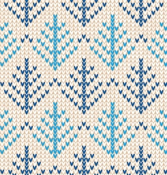 Christmas Scandinavian flat style white and blue vector image vector image