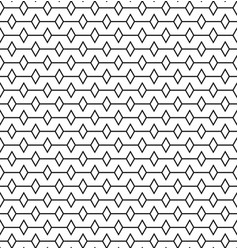 geometric lines with rombus seamless pattern vector image vector image