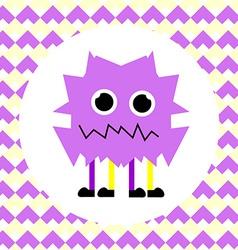 Little Cute Violet Monster vector image vector image