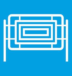 Square fence icon white vector