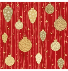 Stripy pattern with decorative balls vector image vector image