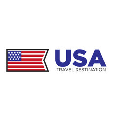 usa country travel destination vector image