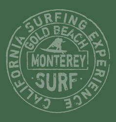 California surfing company vector image vector image