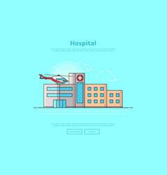 concept of medicine center vector image