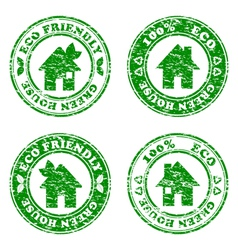 grunge HOUSE stamp vector image