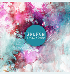 grunge paint background vector image