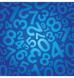 number background vector image