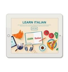 App for study Italian language vector image