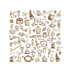 Coffee time background for your design vector image