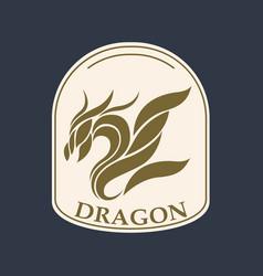 dragon logo icon design vector image vector image