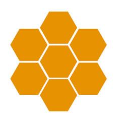honeycomb icon on white background flat style vector image