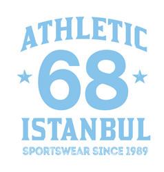 istanbul sport t-shirt design vector image