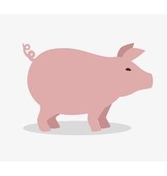 pig farm animal icon vector image