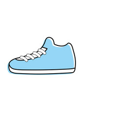 sneakers element to do exercise with fashion style vector image