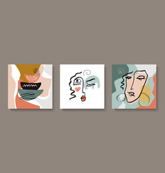 a set creative templates in fashionable style vector image