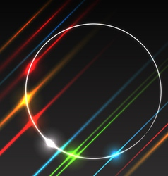 Abstract background glowing rays vector