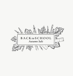 back to school season sale abstract retro vector image