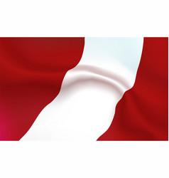 Background austrian flag in folds austria banner vector