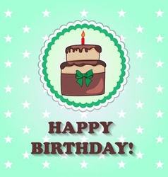 Birthday design over green background vector image