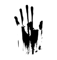 Black smeared hand mascara vector