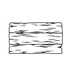 Blank wooden plank template vector