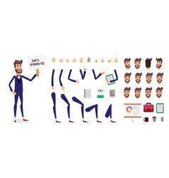 businessman constructor or male cartoon vector image