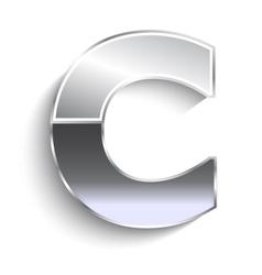 C metal font vector image